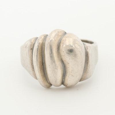 Sterling Silver Shrimp Ring