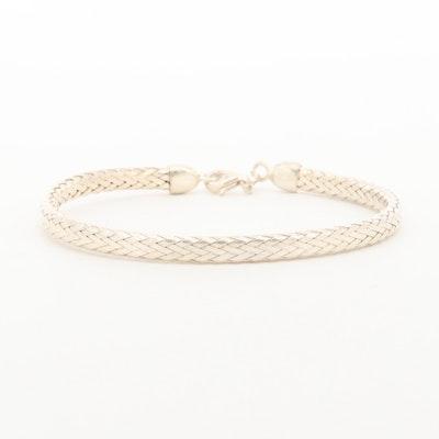 Sterling Silver Woven Bangle Bracelet