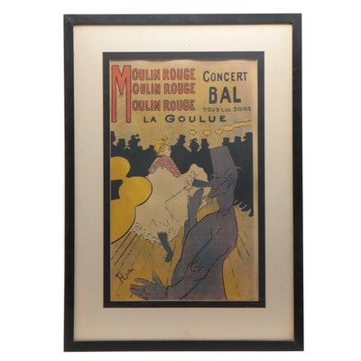 """Serigraph after Henri de Toulouse-Lautrec """"Moulin Rouge"""""""