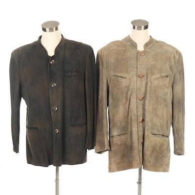 Men's Lacos and Zeiler Suede Jackets, Vintage