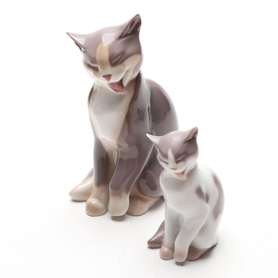 Bing & Grøndahl Porcelain Cat Figurines