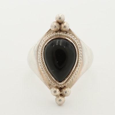 Sterling Silver Black Onyx Ring