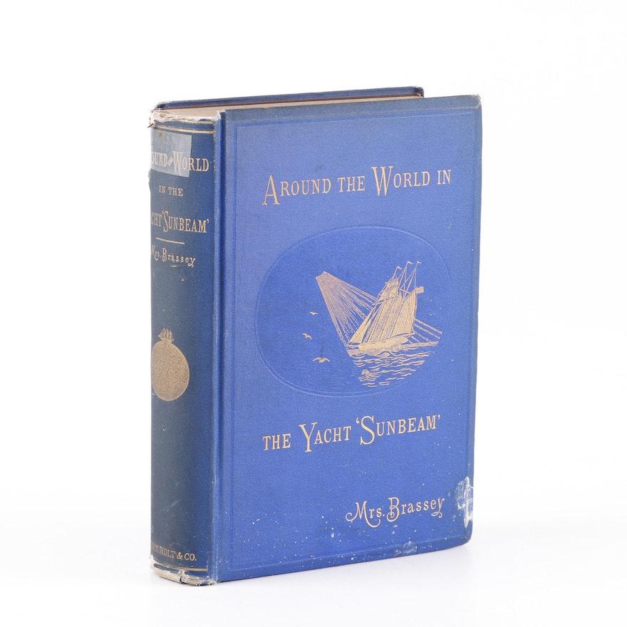 "1879 First Edition ""Around the World in the Yacht 'Sunbeam'"" by Anne Brassey"