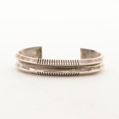 L. Begay Signed Southwestern Style Cuff Bracelet