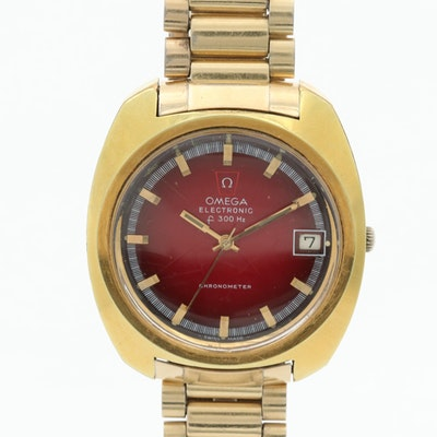 Omega Electronic Chronometer Wristwatch
