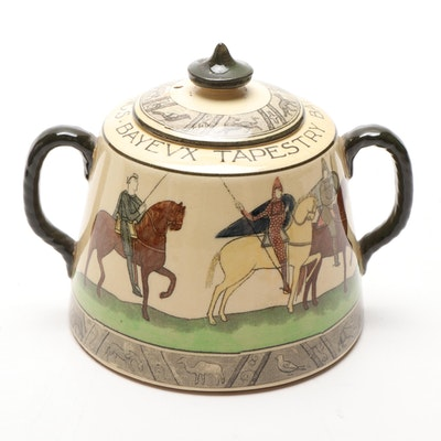 "Royal Doulton ""Bayeux Tapestry"" Ceramic Covered Sugar Bowl"