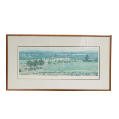 "Mike Pease Color Lithograph ""Hillside Morning"""