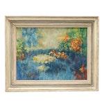 John Hoder Impressionist Landscape Oil Painting