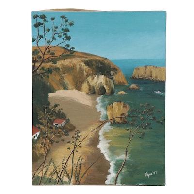 Kayne Coastal Landscape Oil Painting