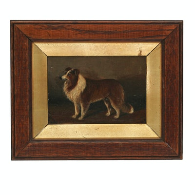 Late 19th Century Oil Painting of Dog