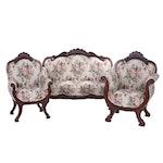Victorian Style Mahogany Parlor Set, 1850s