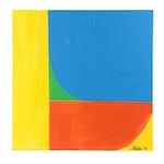 "J. Popolin Acrylic Painting ""Sailboat"""