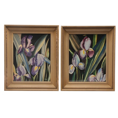 Iris Gouache Paintings