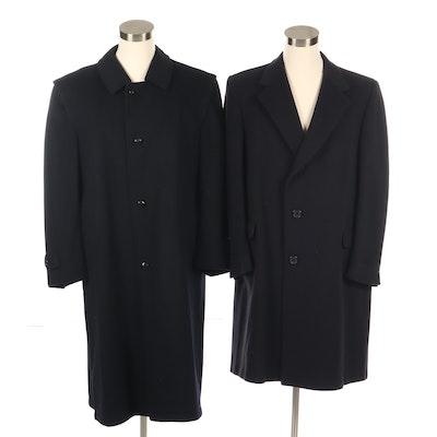 Men's Loden Made for Burberrys and Hart Schaffner & Marx Wool Coats