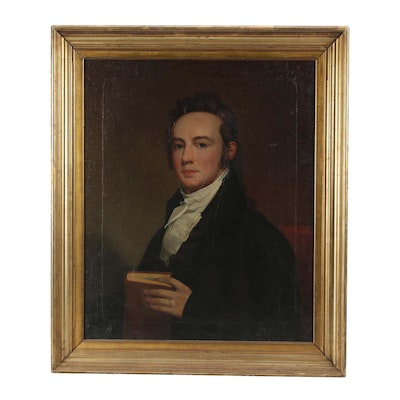 19th Century Portrait of a Gentleman Oil Painting