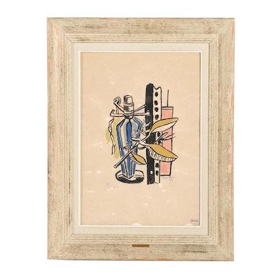 "Fernand Léger Serigraph ""Still Life with Blue Bottle"""