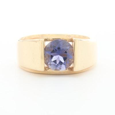 14K Yellow Gold Iolite Ring