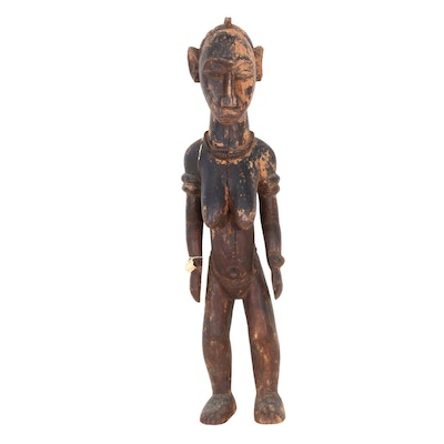"Baga Guinea 36"" Wood Carving, Late 19th Century"