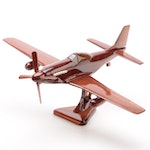 P-40 Warhawk Polished Wood Model Plane