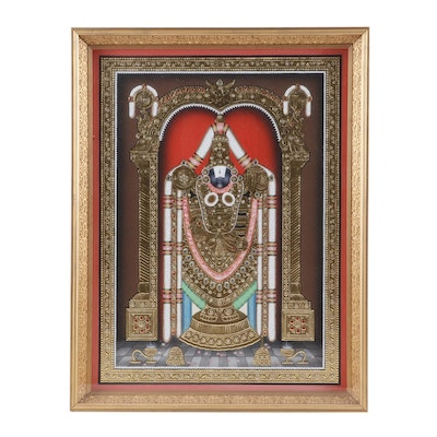 South Indian Mixed Media Tanjore Style Painting