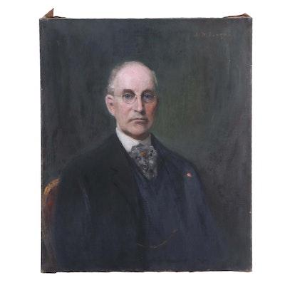 Joseph Henry Boston Oil Painting of Dr. John Hubley Schall