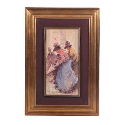 Impressionist Oil Painting of Female Figures