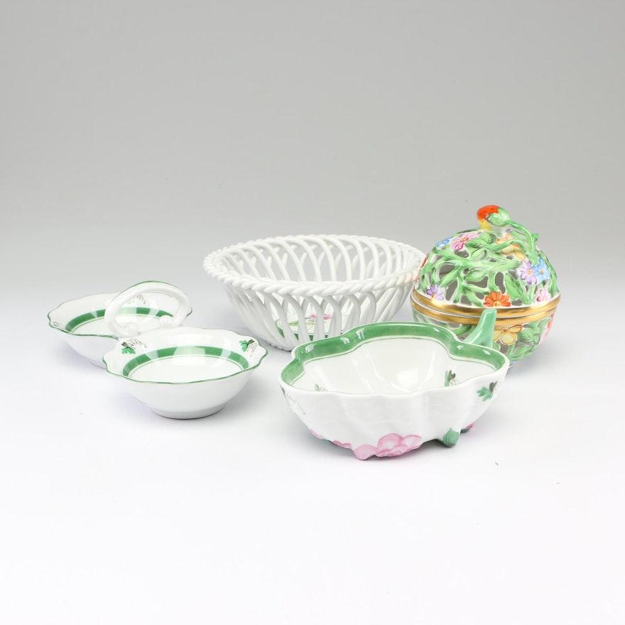 "Herend ""Viennese Rose"" Porcelain Serveware"