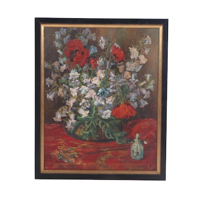 F. Twist Floral Still Life Oil Painting
