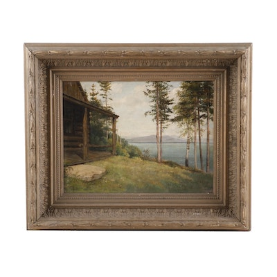 Hudson River School Oil Painting Attributed to Jervis McEntee