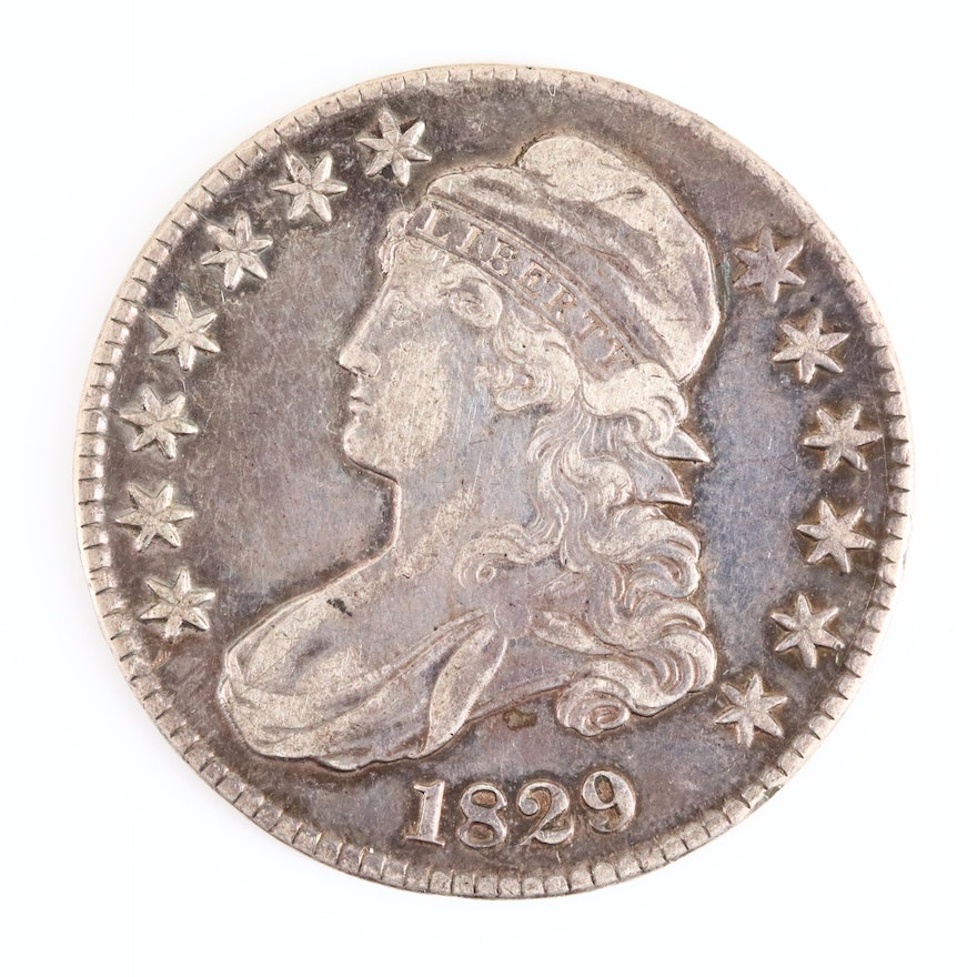 1829 Capped Bust Silver Half Dollar