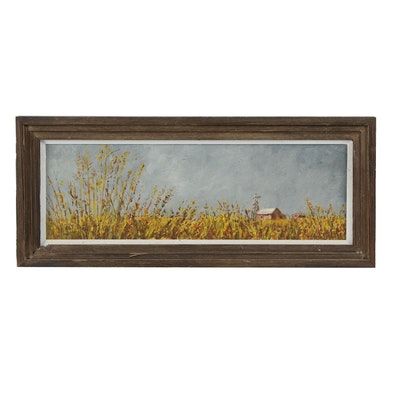 William Paterson Ewen Oil Painting of Pastoral Scene