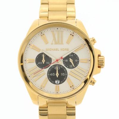 Michael Kors MK-5838 Gold Tone Chronograph Wristwatch