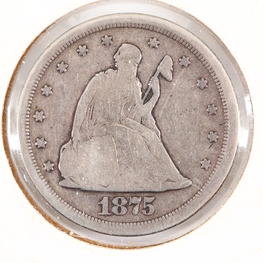 1875-S Seated Liberty Twenty-Cent Coin