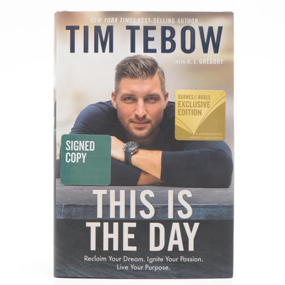 "Signed First Edition ""This Is The Day"" by Tim Tebow"