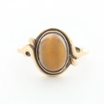 10K Yellow Gold Tiger's Eye Ring