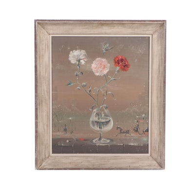 Early 20th Century Floral Still Life Oil Painting