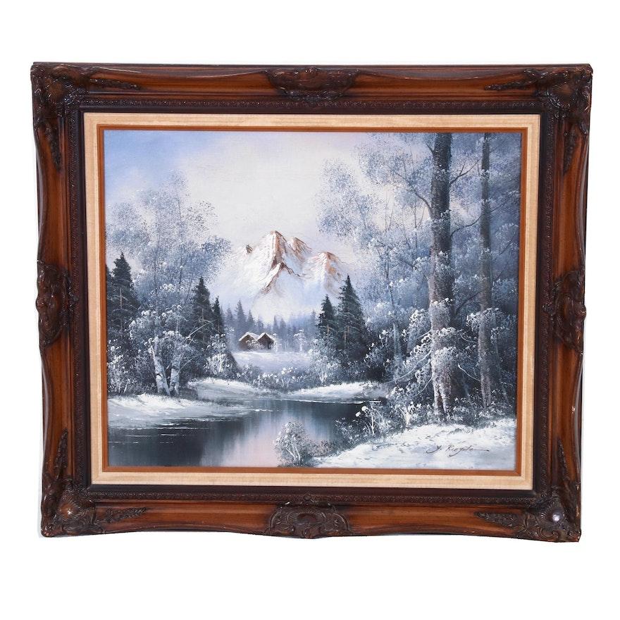 Y. Riefole Landscape Oil Painting