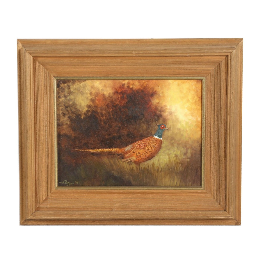 Oil Painting of a Pheasant