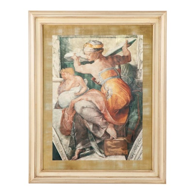 Late 20th Century Offset Lithograph after Michelangelo's Libyan Sibyl