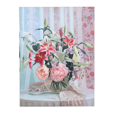 Yuan Lee Floral Still Life Oil Painting