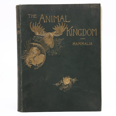 "1888 ""The Natural History of Animals"" Illustrated Hardcover"