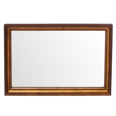 Gilt Wood Beveled Edge Wall Mirror, Early to Mid 20th Century