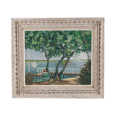 W.G.G. Landscape Oil Painting, 1939