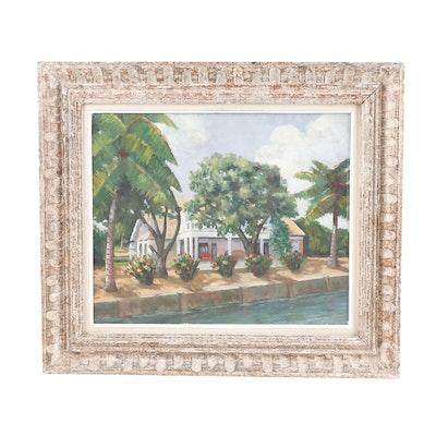 W.G.G Landscape Oil Painting, 1934