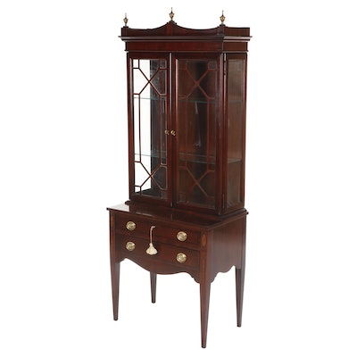 Jasper Cabinet Chinese Chippendale Style Mahogany Finished Secretary Desk