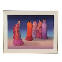 """R.C. Gorman Color Lithograph """"Nightwatch"""""""