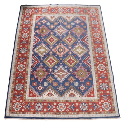 Hand-Knotted Indian Wool Kazak Room Sized Rug