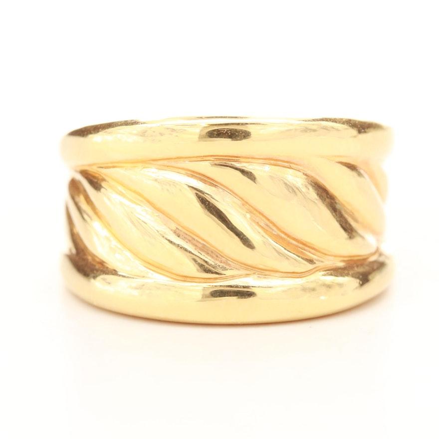 14K Yellow Gold Electroformed Ring