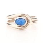 J. Begay Navajo Diné Sterling Silver Lapis Lazuli Ring