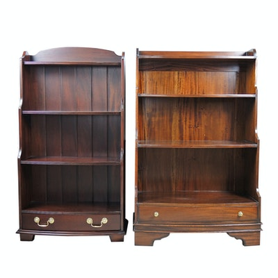 Mahogany Bookcases, Mid to Late 20th Century